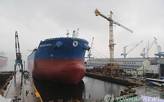 Japan to surpass Korea in shipbuilding