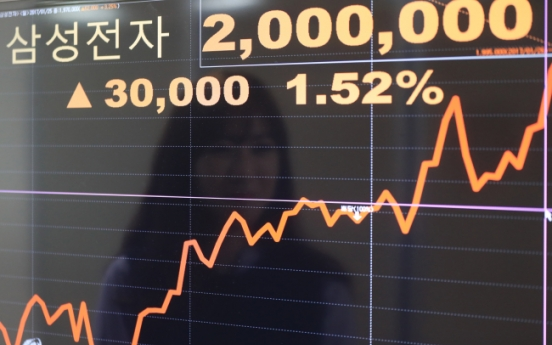 Korean stocks up on Samsung's rally