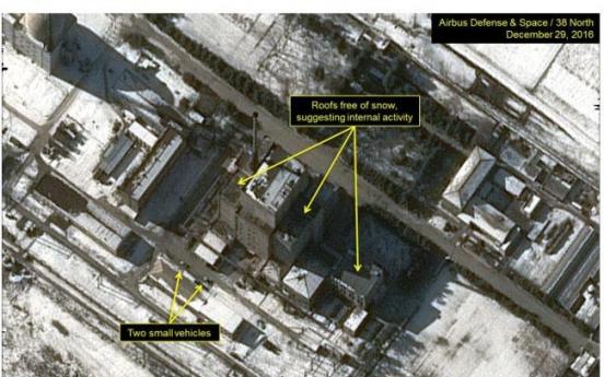 Satellite image shows NK restarts plutonium-producing reactor