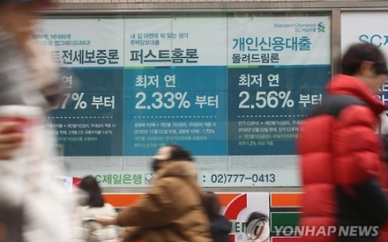 Rates for household loans inch up in December