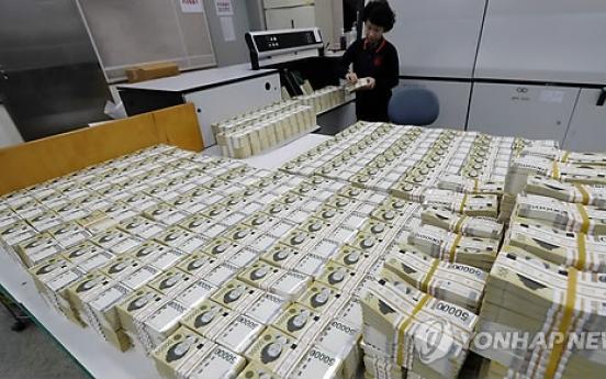 Korea's money supply up 7.5% in December