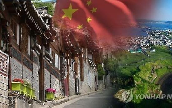 Chinese land ownership in Korea surges