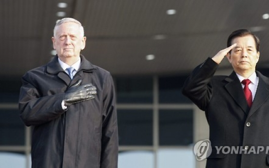 Korea, US defense chiefs vow to fight against any attack