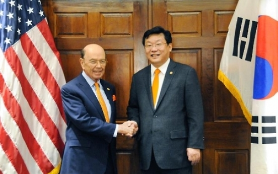 Korea's trade minister meets with US counterpart