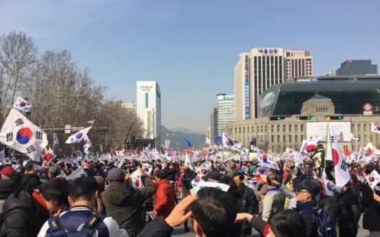 [Photo News] Pro-Park rally calls for verdict reversal