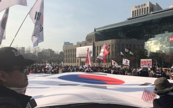 [Photo News] Park supporters march in protest against ruling