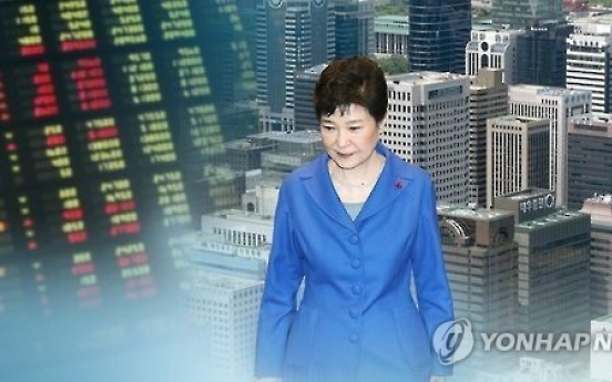 Stock market gains less than 4% under Park's term