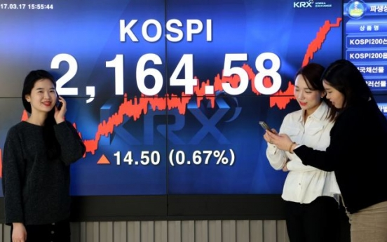 Kospi touches fresh near 2-year high
