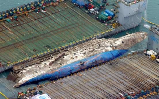 Sewol ferry raised after 3 years