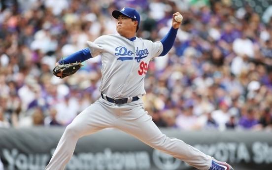 Dodgers' Ryu Hyun-jin takes loss in season debut