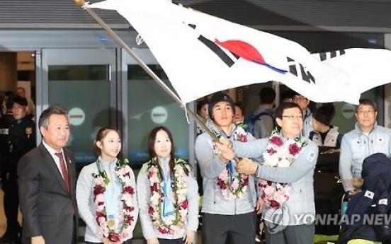 Korean athletes make triumphant homecoming after historic Asian Winter Games