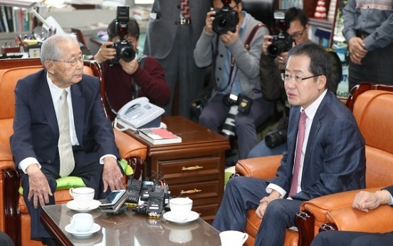 Hong scrambles to rally conservative voters amid military tensions