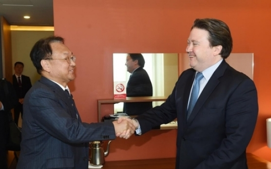 Korea's finance minister meets with acting US ambassador to South Korea