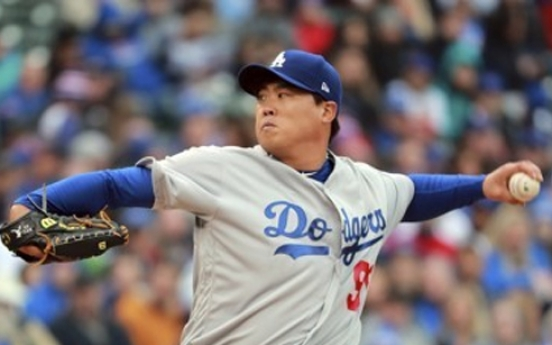 Dodgers' Ryu Hyun-jin falls to Cubs for 2nd loss of season