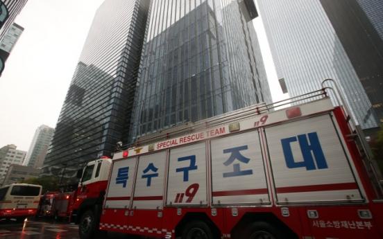 [Photo News] Rescue team evacuates Samsung workers due to false report