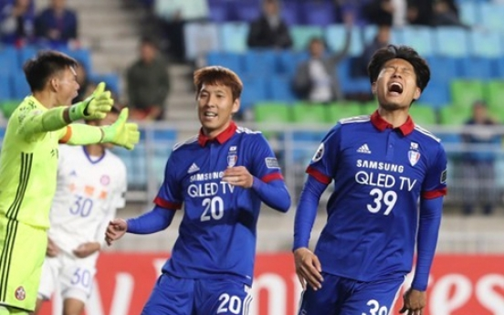 Korean football club Suwon stuttering from frequent draws