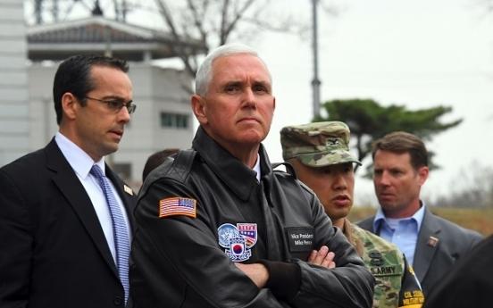 Pence warns NK against 'testing' US resolve