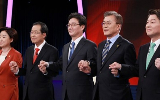 Presidential candidates clash over NK policy, missile defense