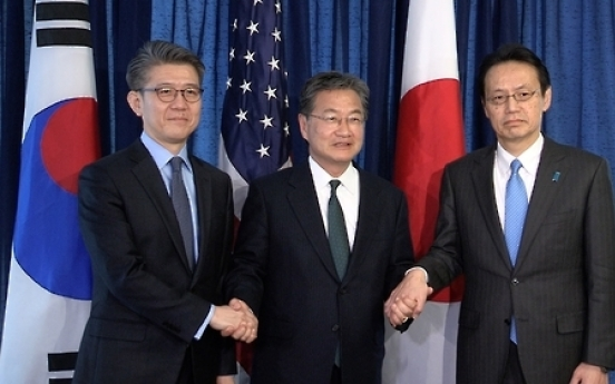 Nuclear envoys of S. Korea, US, Japan to meet next week to discuss NK issue