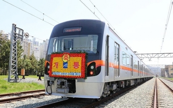 Smart rail cars added to Busan subway system