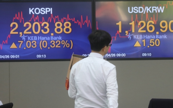 Kospi tops 2,200 for first time in 6 years