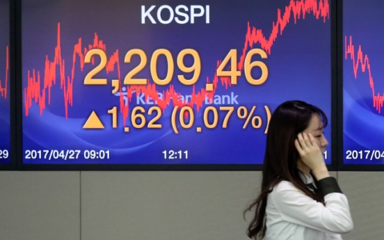 Kospi hits another record high for 2017