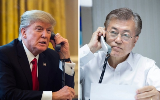 Moon Jae-in, Trump renew vows on Korea-US ties
