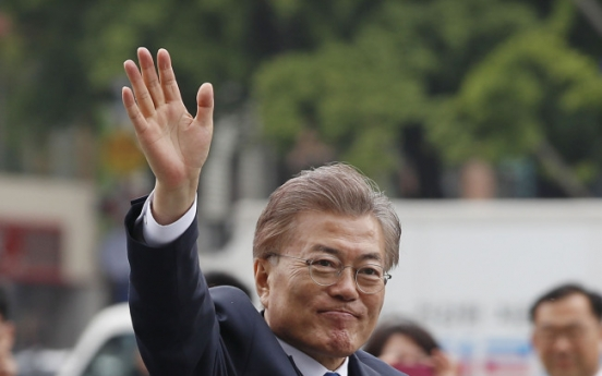 Moon wants to be first 'Gwanghwamun President'