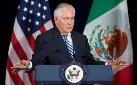 Tillerson promises NK regime security, appeals for trust: envoy