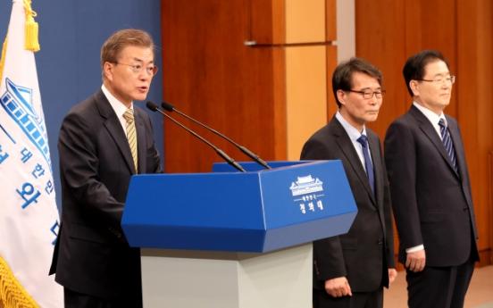Moon puts chaebol reform, income growth top on economic agenda
