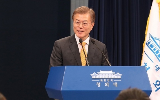 Moon's approval rating tops 80% for 1st week in office