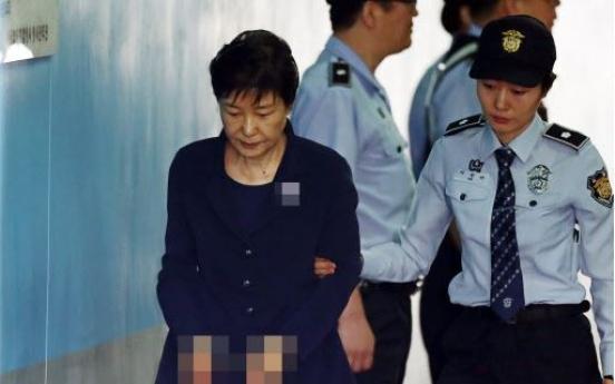 Park Geun-hye seen dozing off during trial