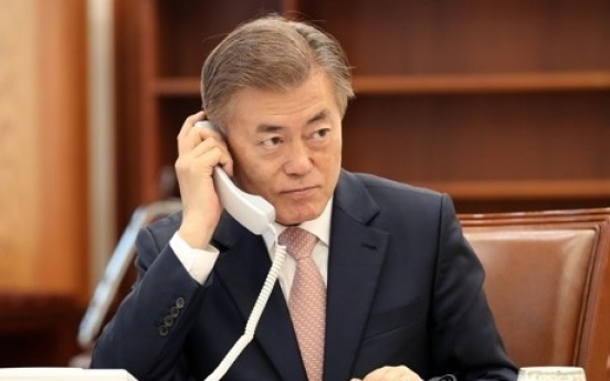 Moon to add dialogue to sanctions in dealing with N. Korea