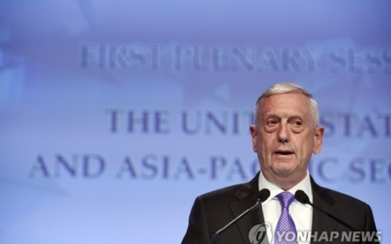 Mattis: THAAD is to address 'real' N. Korea problem