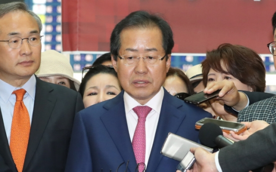 Hong Joon-pyo returns home to vie for conservative leadership