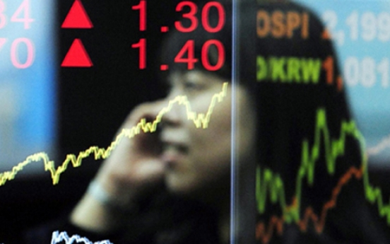 Seoul shares lose ground on techs, chemicals