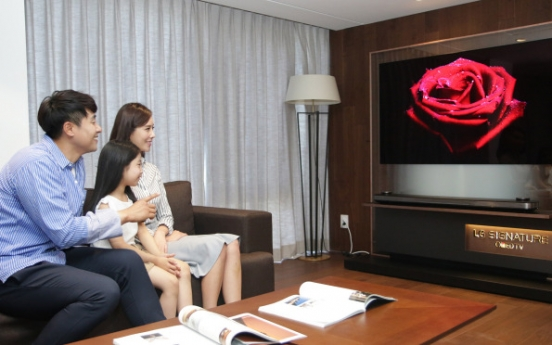 [Photo News] LG supplies premium TV set to luxury resort hotels