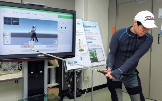 [Photo News] ETRI develops smart wear for golfing