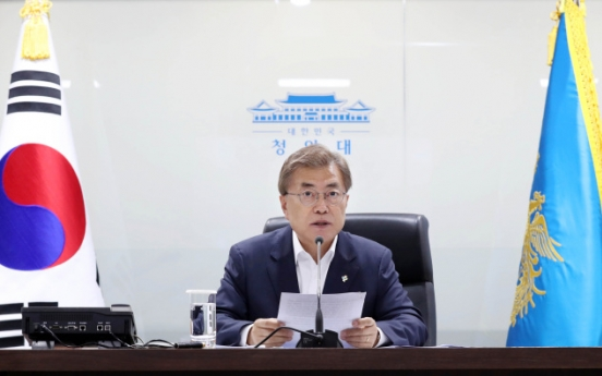 Moon blasts NK missile test, says no compromise on security