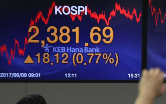 [Photo News] Kospi closes at a new record high