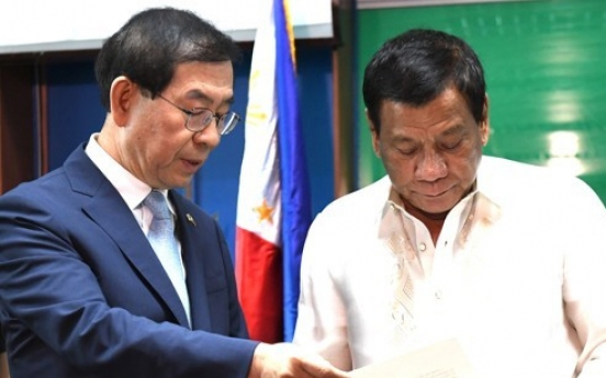 Korea to extend $1b loan to Philippine leader's infrastructure program