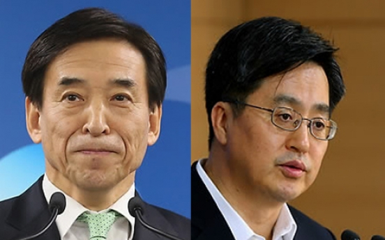 Korea's top fiscal and monetary policymakers vow coordination