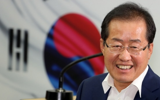 Hong declares bid to become conservative party chief