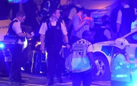 Vehicle hits people near London mosque, causing casualties