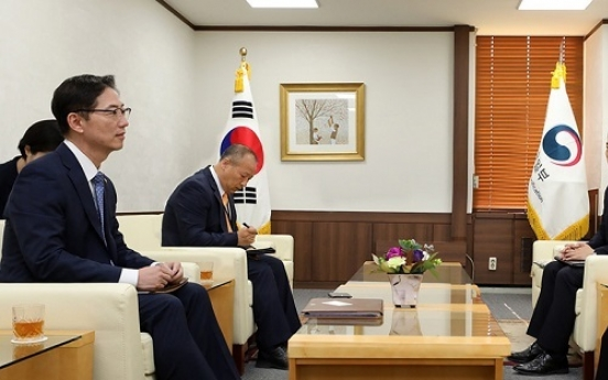 Vice unification minister meets Japan's top envoy