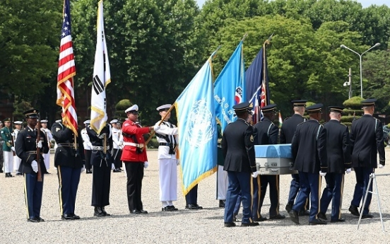 Korean hands over remains of fallen US soldier days before war anniversary
