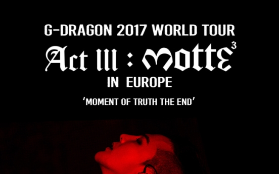 G-Dragon adds 5 European cities to on-going world tour