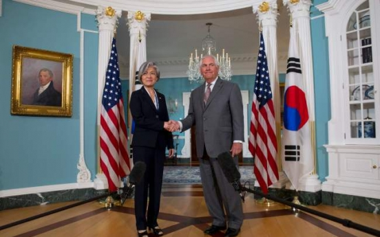 Tillerson: US, S. Korea on same page on reining in N. Korea