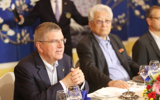 IOC President Bach saving talks on joint Korean Olympic team for Moon