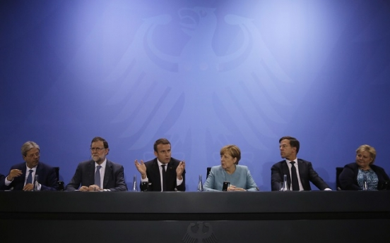 Europeans line up behind Paris accord, free trade before G-20